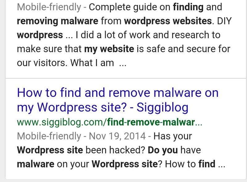 Google shows mobile friendly sites