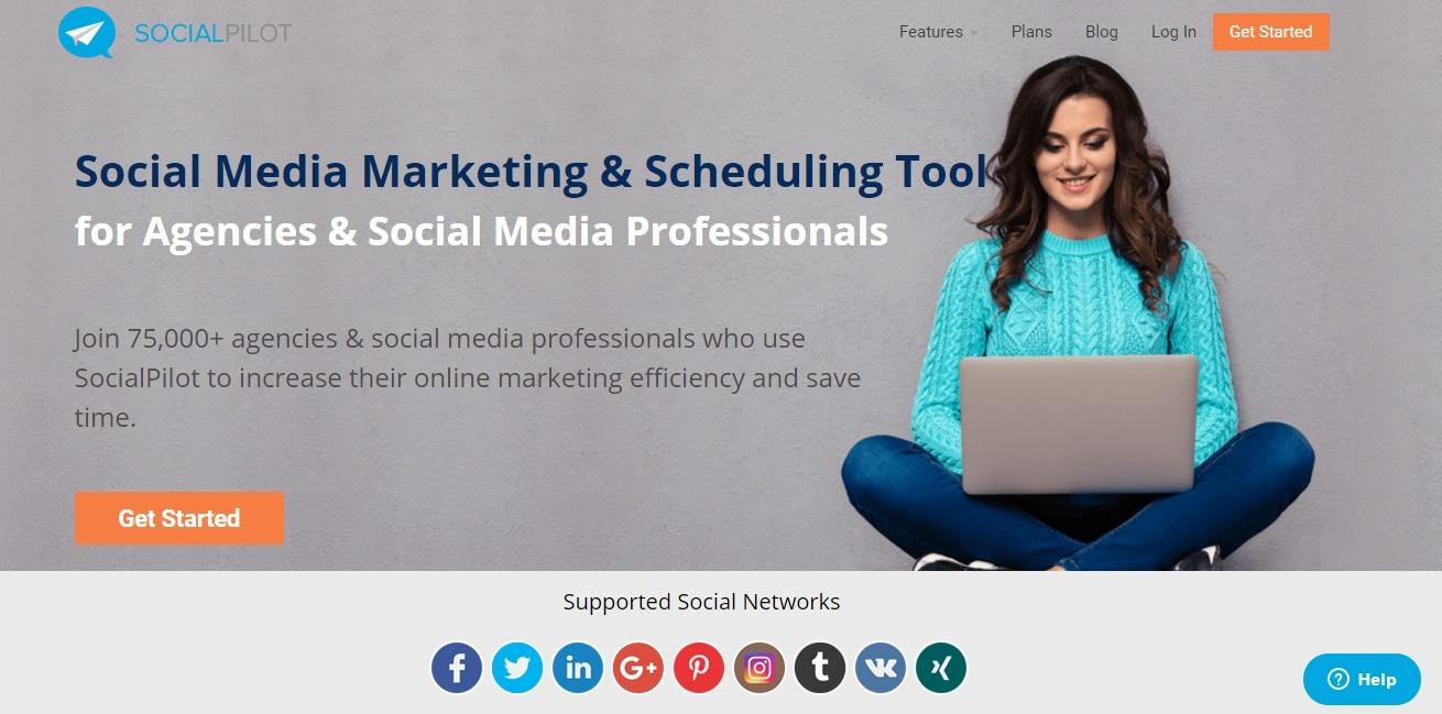 SocialPilot website